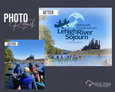 Photo Retouch Lehigh River Sojourn Befor