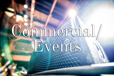 Commercial and  Events Words over Photo.