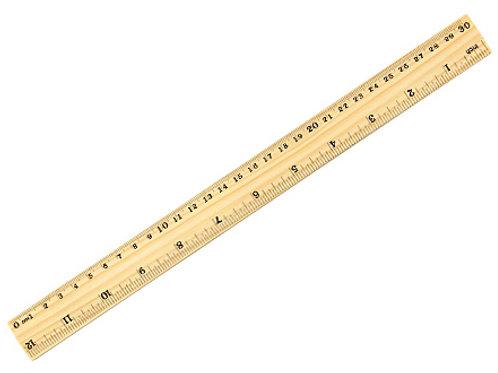 00487     Regla de madera