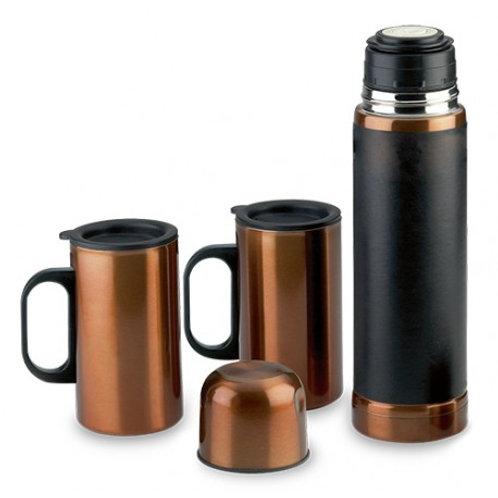 00294     Set termo y mugs cobrizados