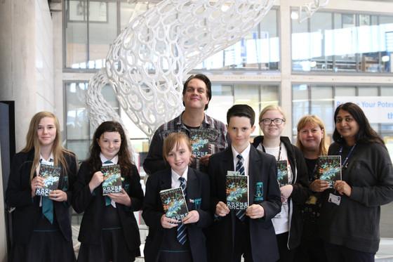 Andy Briggs, renowned screenwriter, graphic novelist and author, visits DarwenAldridge Community Ac