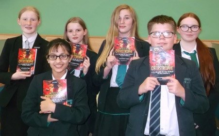 """Sammy Brown (Y11), Georgina Brown (Y9), Sian Edwards (Y9), Jentai Scales (Y8), Will O'Hara (Y8) and Ibtihaj Aziz (Y7) took part in the Young Writers Mission Impossible:  Catastrophe Competition.  We are very pleased to announce that they have all been selected as finalists and their stories have been published in the anthology, """"Mission Catastrophe Lancashire Tales."""""""