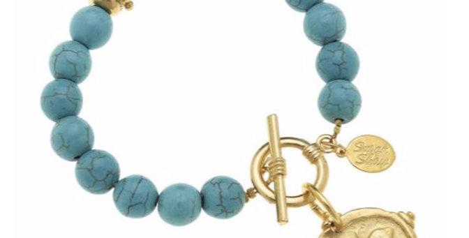 Turquoise Bee Bracelet