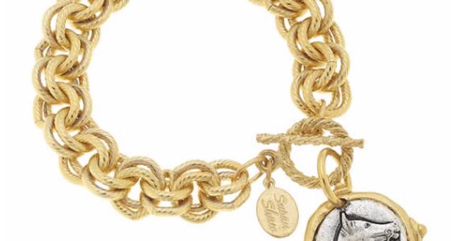 Gold & Silver Horse Bracelet