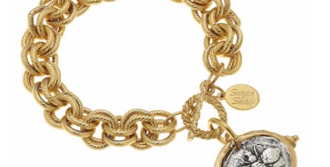 Gold & Silver Bee Bracelet