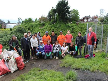 Segunda jornada de limpieza en Quebrada Parque logra remover 1,5 ton de basura
