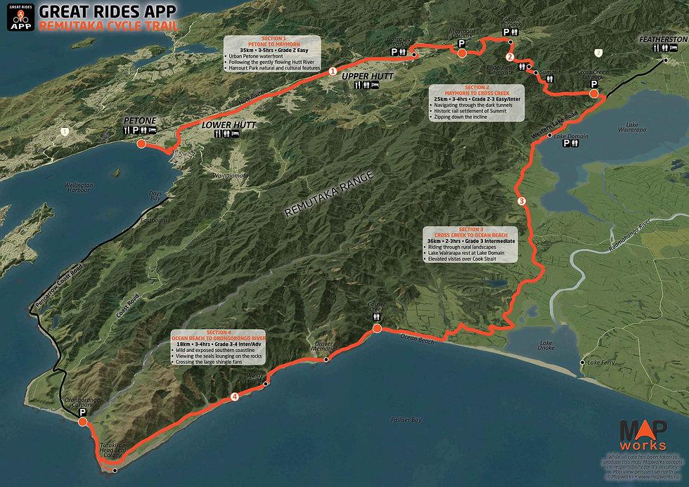 Remutaka Cycle Trail Map