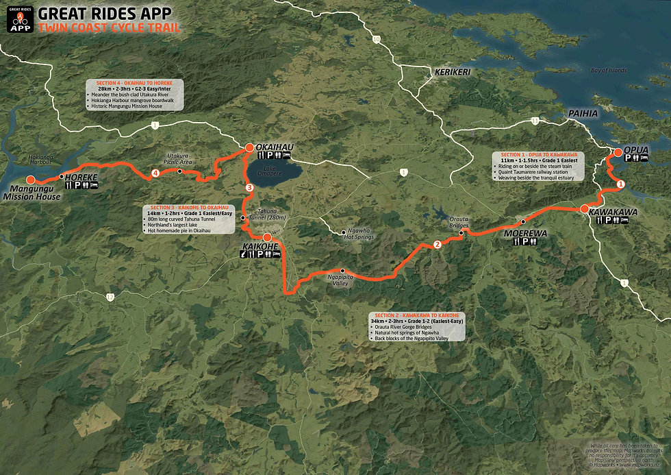 Twin Coast Cycle Trail Map