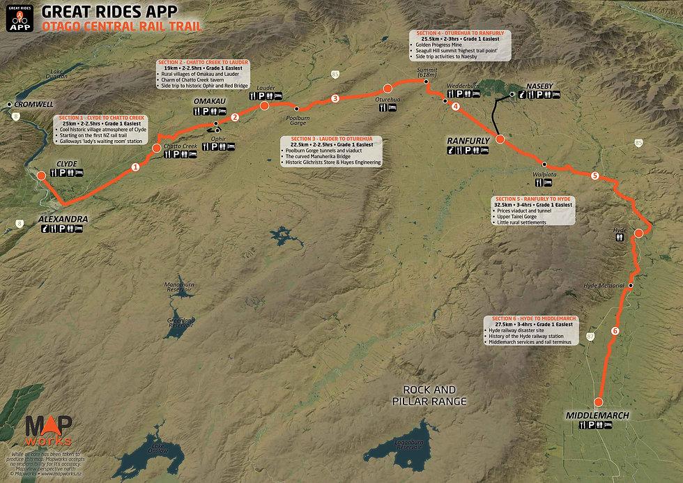 Otago Central Rail Trail Map