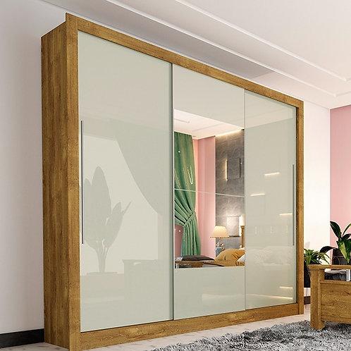 Guarda-roupa 3 portas de correr com espelho