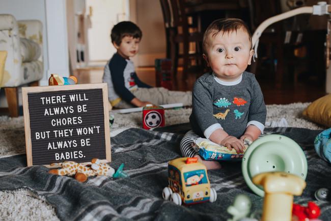 Hey new mom, ignore those chores