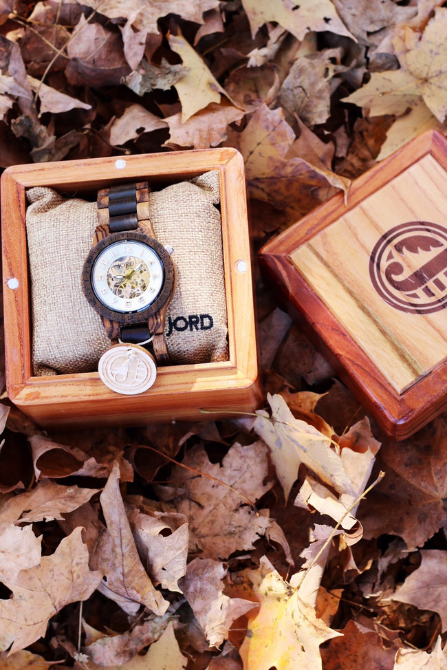 A Unique + Timeless Gift: JORD Wood Watches.