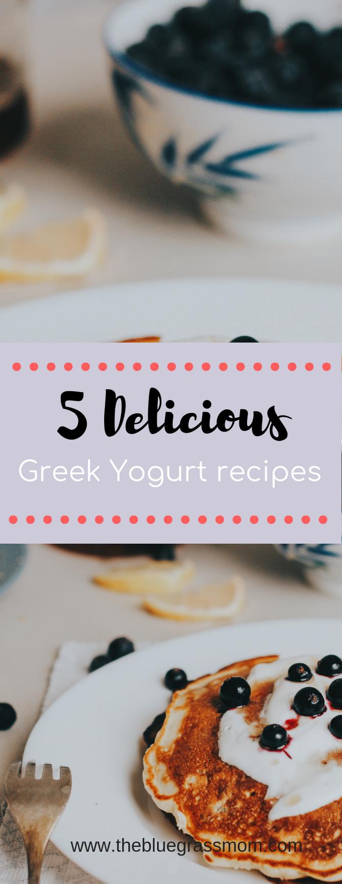 5 Healthy Recipes with Greek Yogurt.