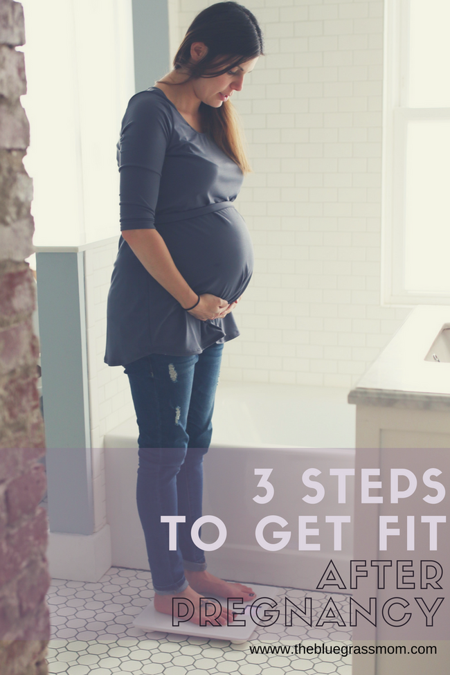 3 steps to get fit after pregnancy