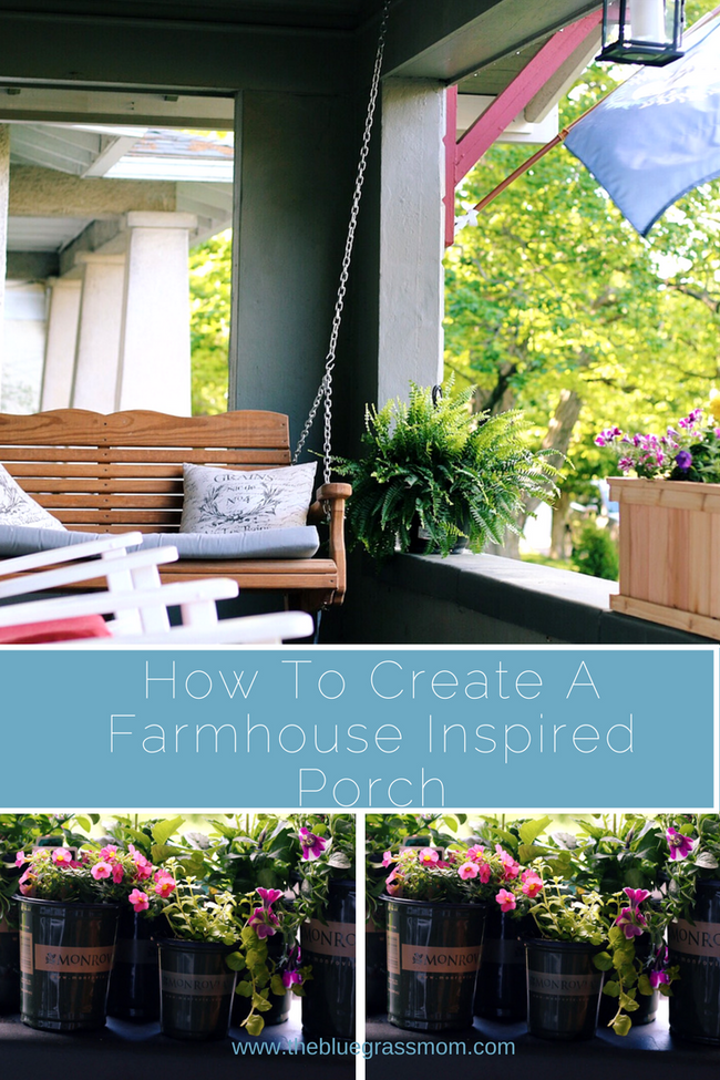 How To Create A Farmhouse Inspired Porch