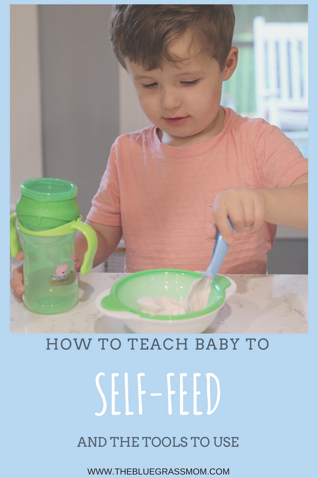 How to teach baby to self Feed and the Tools to use