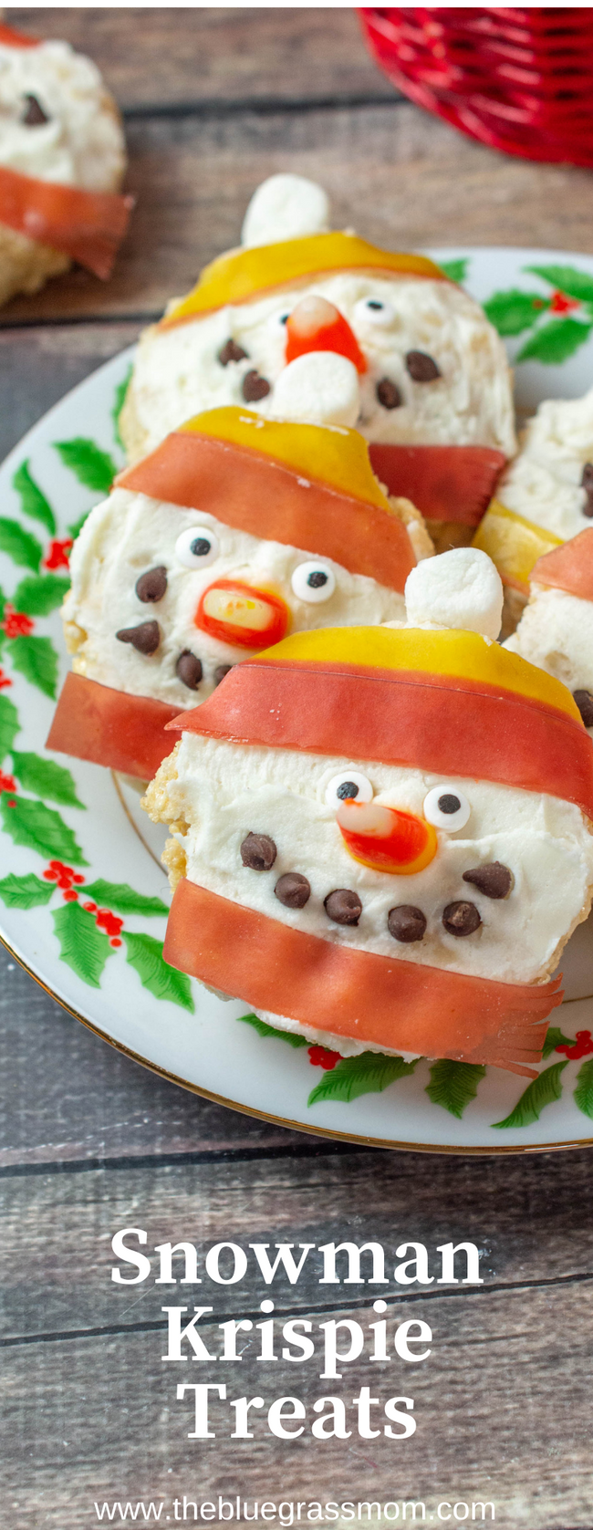 Snowman Rice Krispie Treats