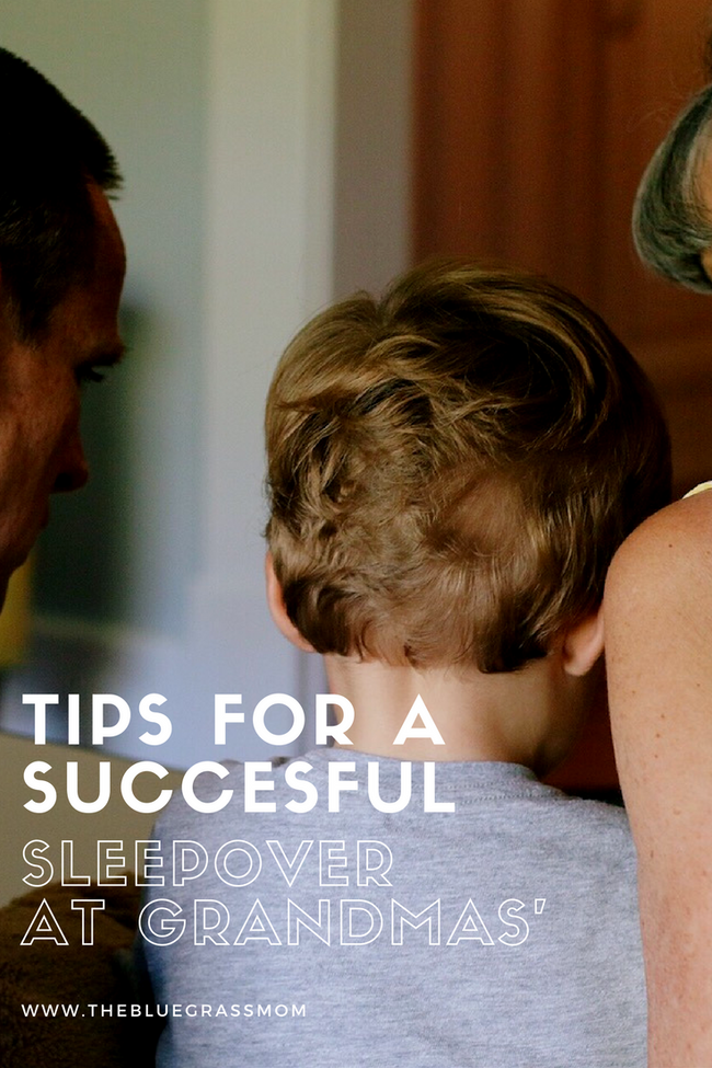 Tips for a successful sleepover at grandma's house.