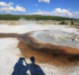 Je suis en mode avion à Yellowstone, Wyoming
