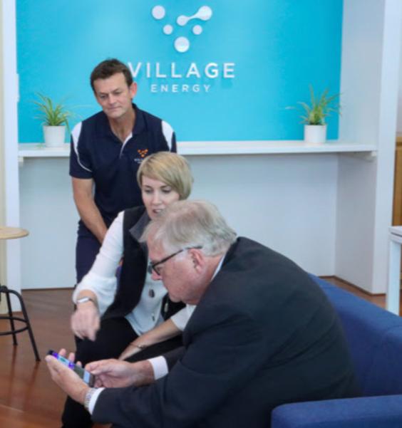 Governor of Western Australia, The Honourable Kim Beazley AC, - tour of Village Energy