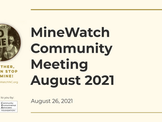 MineWatch August Meeting 2021 - Energy ROI.