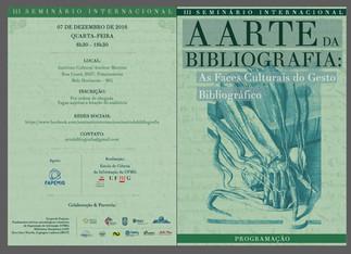 III Seminário Internacional A ARTE DA BIBLIOGRAFIA - Informações completas