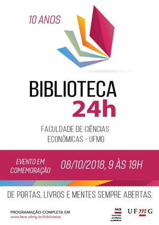 Divulgando... Biblioteca 24h Faculdade de Ciências Econômicas UFMG - 10 anos