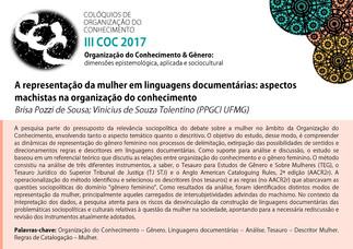 A representação da mulher em linguagens documentárias: aspectos machistas na organização do conhecim