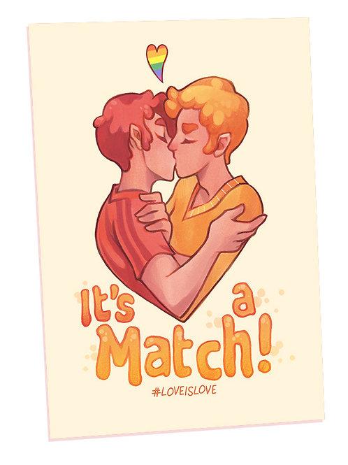 Print A4 Vergé - Love is Love