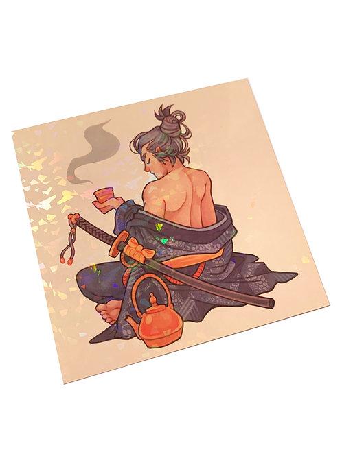 Print Holográfico - Chá