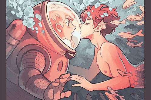 Print A4 papel Reciclato - Kiss Underwater