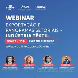 WEBINAR: Exportação e Panoramas Setoriais - Indústria Têxtil