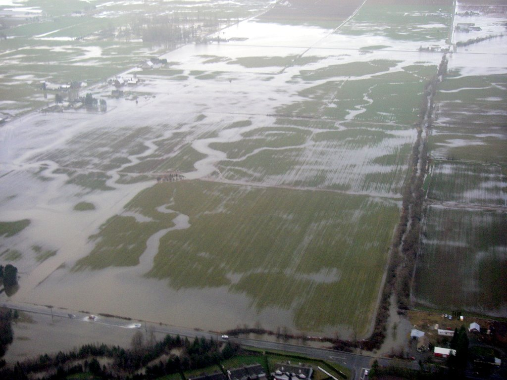 Aerial view of 2009 flood