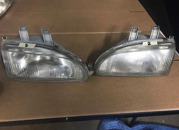 JDM 92-95 HONDA CIVIC EG6 HEADLIGHTS HEAD LAMPS STANLEY