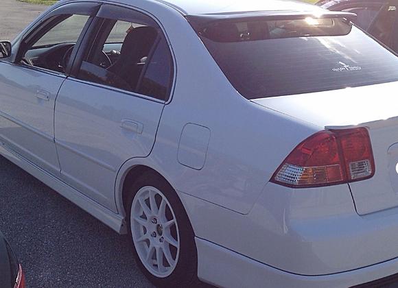 Speedzone Rear Roof Visor Civic 01 02 03 04 05 4DR