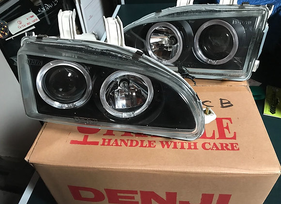 DENJI CIVIC 92-95 PROJECTOR HEADLIGHTS GEN III WITH MAGIC RINGS (DJ-HD6200-CB)