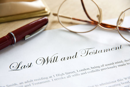 Last Will and Testament concept image co