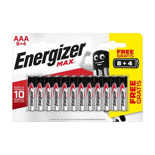 Energizer Max Alk AAA BP12 8+4 x6