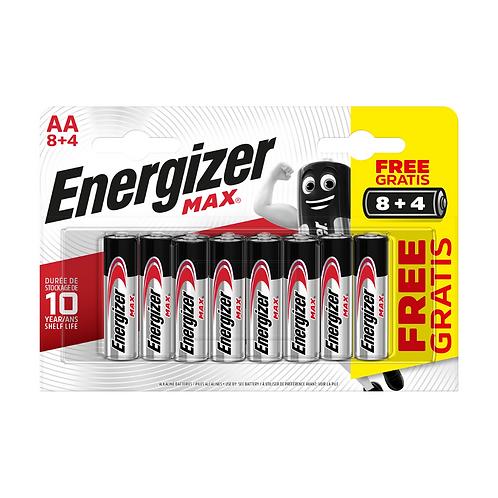 Energizer Max Alk AA BP12 8+4 x6