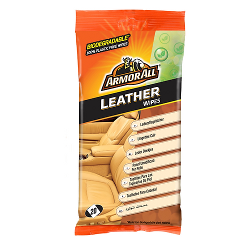 ArmorAll 20ct Leather Flow Wipes x6