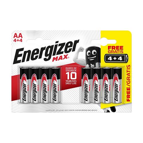 Energizer  Max Alk AA BP8 4+4 x12