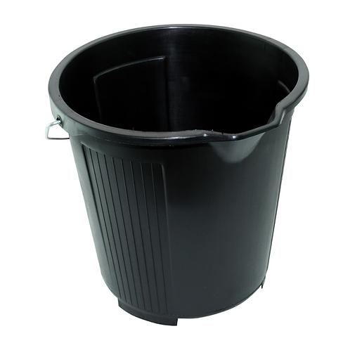 Kent 2Gal/10Ltr Black Plastic Bucket x1