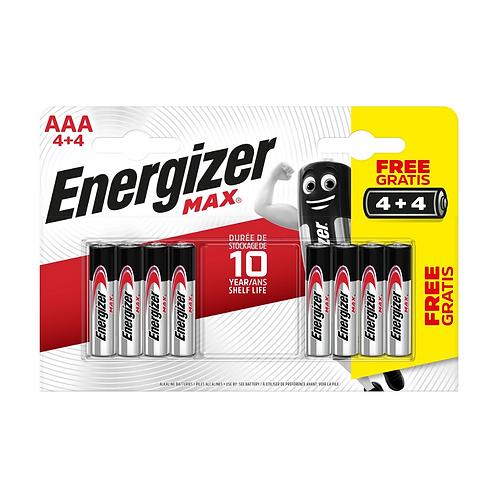 Energizer Max Alk AAA BP8 4+4 x12