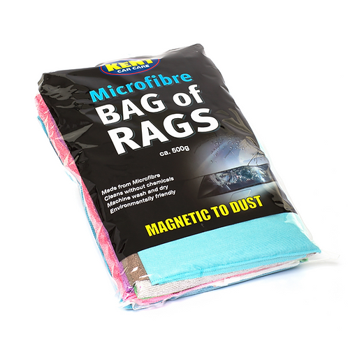 Kent 500g Microfibre Bag of Rags x4