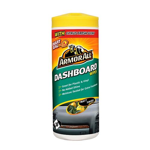 ArmorAll 30ct Dash Matt Flow Wipes x6