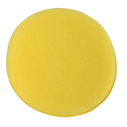 "Kent 5"" Yellow Sponge Polish App Pad x10"