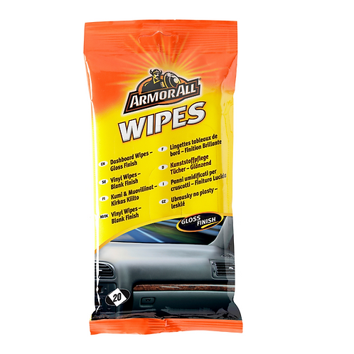 ArmorAll 20ct Dash Gloss Flow Wipes x6