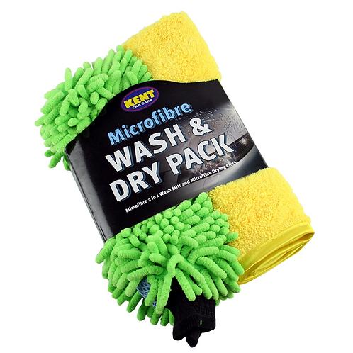 Kent Microfibre Wash & Dry Pack x3