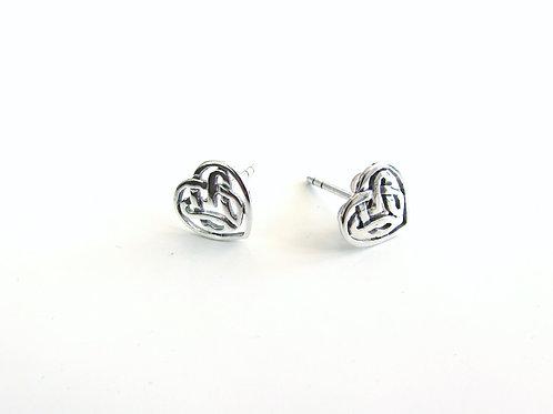 Boucles d'oreilles celtiques coeur