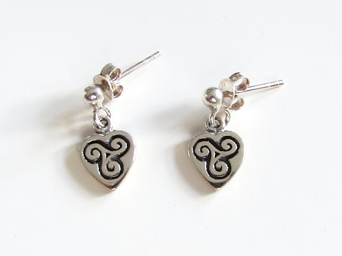 Boucles d'oreilles triskell coeur